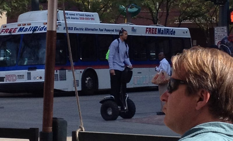 Illustration for article titled Here's A Picture Of JaVale McGee Riding His Segway