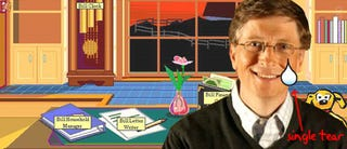 Illustration for article titled Bill Gates Bids Farewell to his Colleagues with a Lump in his Throat