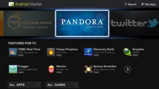 Illustration for article titled Google TV Updates on Sunday, Adds Android Market and TV-Friendly Apps, Sports a Nicer Look