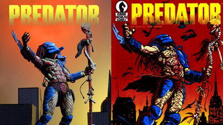 Illustration for article titled This PredatorFigure Looks Like It's Ripped Straight From A Comic Cover