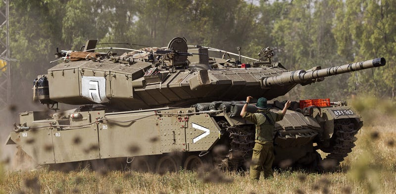 Illustration for article titled This Is Israel's Top Secret Guided Missile Launcher Disguised As A Tank