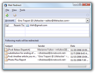 Illustration for article titled Download of the Day:  Mailredirect (Thunderbird)