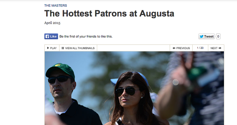 Illustration for article titled Golf Digest Is Running Creepy Photos Of Women Watching Golf Now