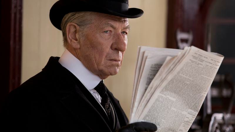 Illustration for article titled Ian McKellen is an aged Sherlock in the stolid Mr. Holmes