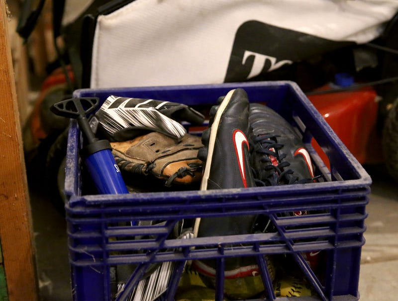 Illustration for article titled Soccer Cleats Resume Rightful Place Beside Broken Ball Pump In Family's Garage For Winter
