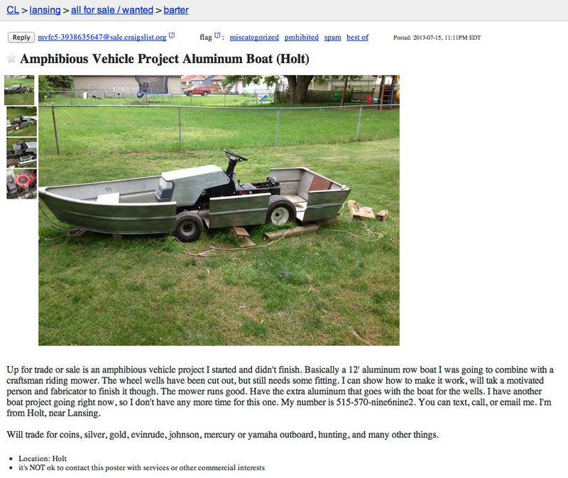Somebody Needs To Jump On This Aborted Amphibious Riding Mower Project
