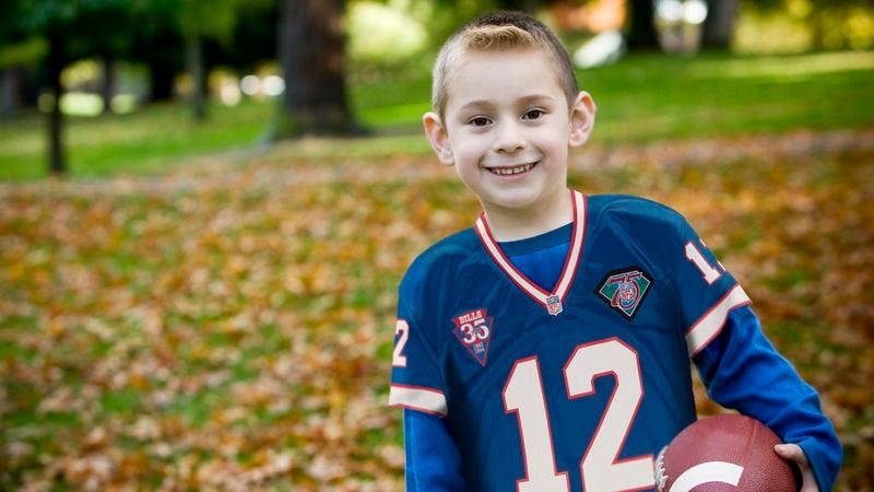 Illustration for article titled Diehard 8-Year-Old Buffalo Bills Fan Showing Early Signs Of Masochism