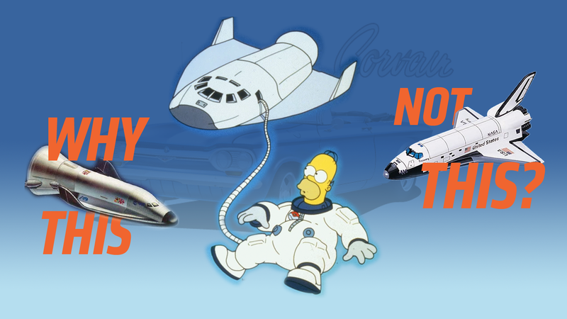 Illustration for article titled The Mystery Of The Space Shuttle In ThatSimpsons Episode Where Homer Went To Space