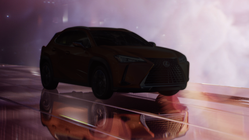 The Lexus UX crossover, which isn't a performance variant, with a shadow over it. We just needed a photo.