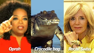 Illustration for article titled Saleswoman tells Oprah she can't buy $38,000 crocodile bag