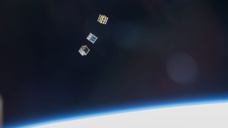 Illustration for article titled What Are These Boxes Doing Floating Through Space?