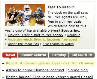 Illustration for article titled Derek Anderson Leaves Browns For Free Agency, Signs With Browns