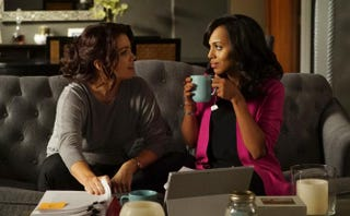 Mellie (Bellamy Young) and Olivia (Kerry Washington) bond over their broken relationships with the president.Eric McCandless/ABC