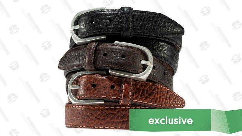Vintage Bison Leather Belts | $20 Off | Promo code KINJA