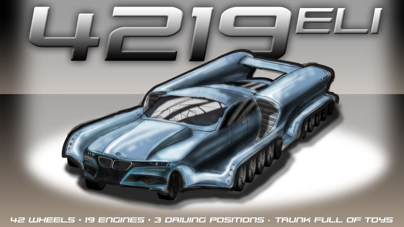 Illustration for article titled Help A Four-Year Old Visualize His Dream Car