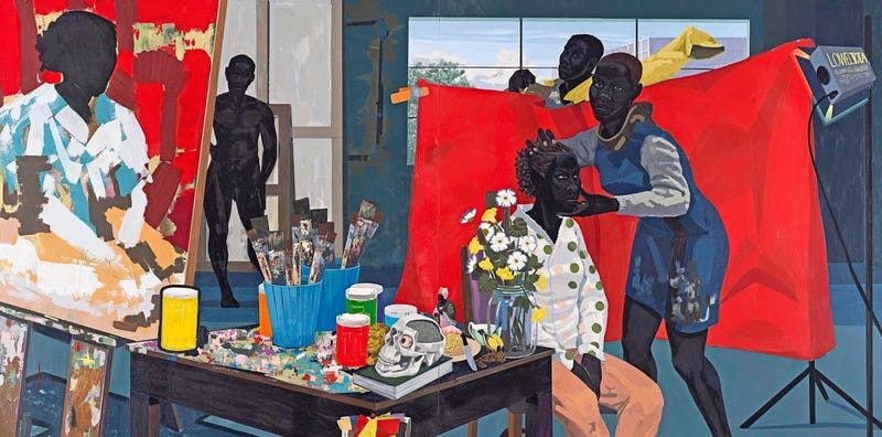 """Illustration for article titled Black History Month Either Starting Early Or Ending Really Fast: Kerry James Marshall """"Mastry"""" Exhibit at the Met Breuer Until January 29"""