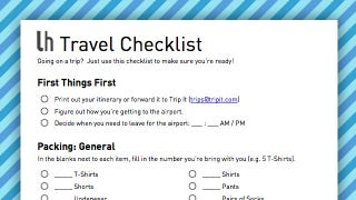 Illustration for article titled Be Prepared for Your Next Trip by Filling Out This Geek-Friendly Travel Checklist