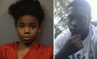 Alyssa Barrett, 17, and her boyfriend Damarius Wren, 18. Both have been charged in the death of her mother, DeCarol Deloney-Cain.Lake County Sheriff's Office; Facebook via the New York Daily News
