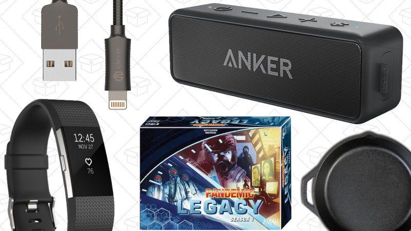 Illustration for article titled Las mejores ofertas del día: Anker SoundCore 2, rebajas de Fitbit por el Día del Padre, cable Lightning de metal y más