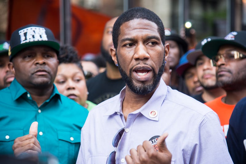 Jumaane Williams (shown here at a 2016 anti-violence event in New York City) is now the New York City public advocate, second in line to the mayor's office. A measure sponsored by Williams to stop companies from testing job applicants for marijuana has now been approved by New York City's City Council and is awaiting signature by Mayor Bill de Blasio.