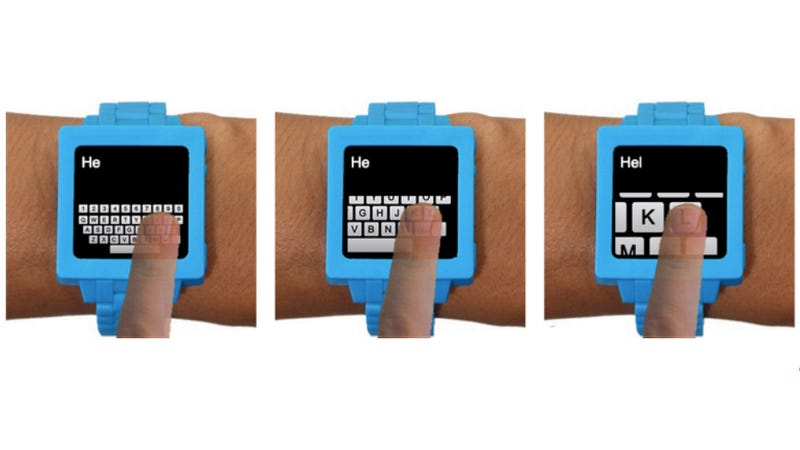 How Typing on a Smart Watch Might Actually Make Sense