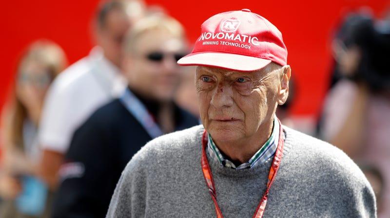 Niki Lauda at the 2018 British Grand Prix.
