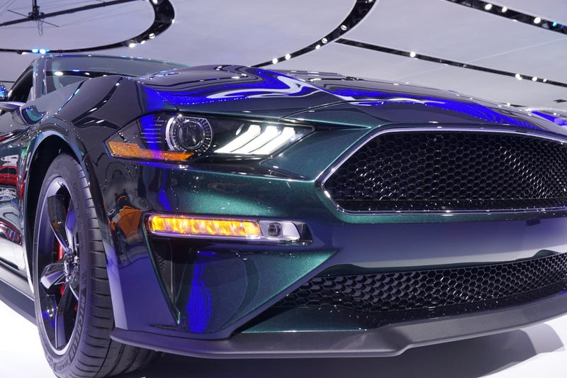 This might be my favorite shot from the show. 2019 Ford Mustang Bullitt.