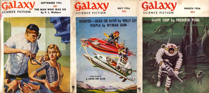 1950s covers from Galaxy magazine, now available for free at Archive.org