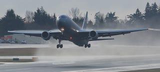 Illustration for article titled The USAF's KC-46 Pegasus Tanker Finally Takes Flight