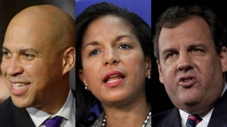 Sen. Cory Booker; national security adviser Susan Rice; New Jersey Gov. Chris ChristieMandel Ngan/AFP/Getty Images; Chip Somodevilla/Getty Images; Kena Betancur/Getty Images