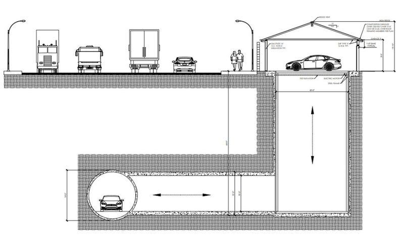 Illustration for article titled The Boring Company construye su primer garaje subterráneo en California, y es casi como la batcueva