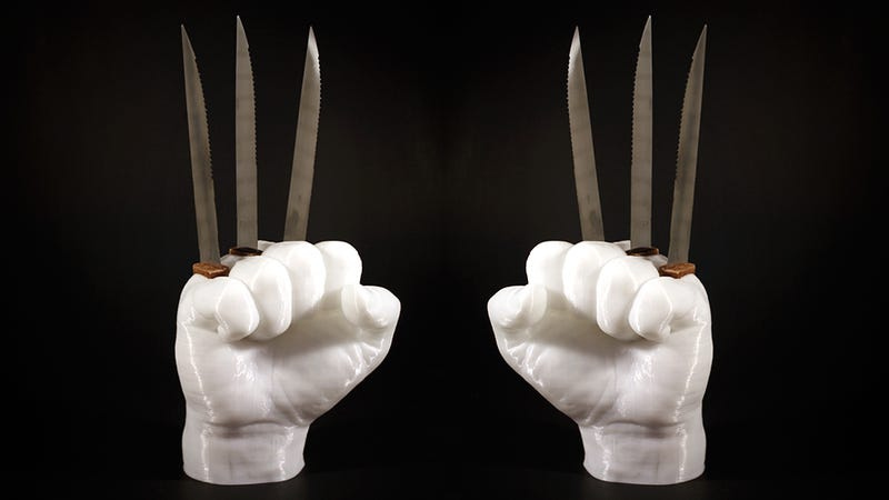 Illustration for article titled This Wolverine Knife Holder Is an Awesome and Incredibly Dangerous Way to Store Your Knives