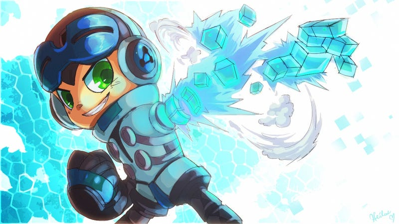 Illustration for article titled Of Course Mega Man's Spiritual Successor Already Has Cool Fan Art