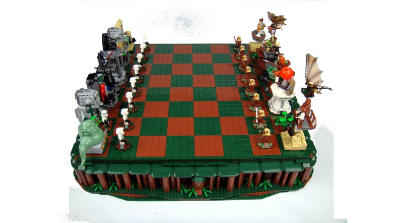 Illustration for article titled You've Got to Be Crafty to Take Down the Empire With this LEGO Star Wars Chess Set