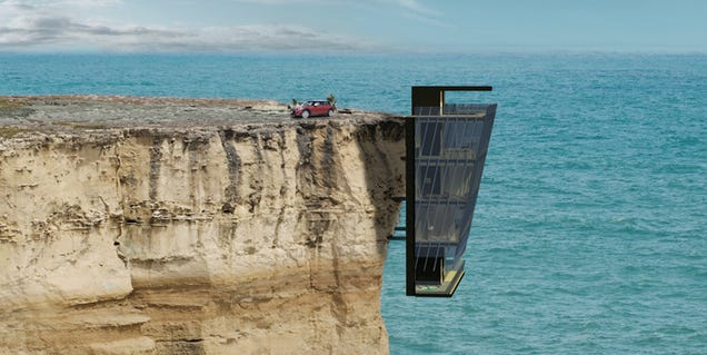I wish this house hanging from a cliff was actually real for Cliff hanging homes
