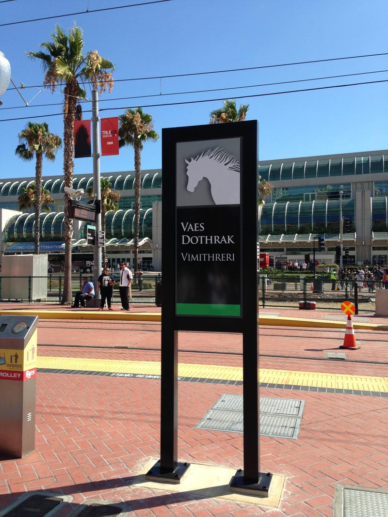 Illustration for article titled The Trolley station outside SDCC has become...