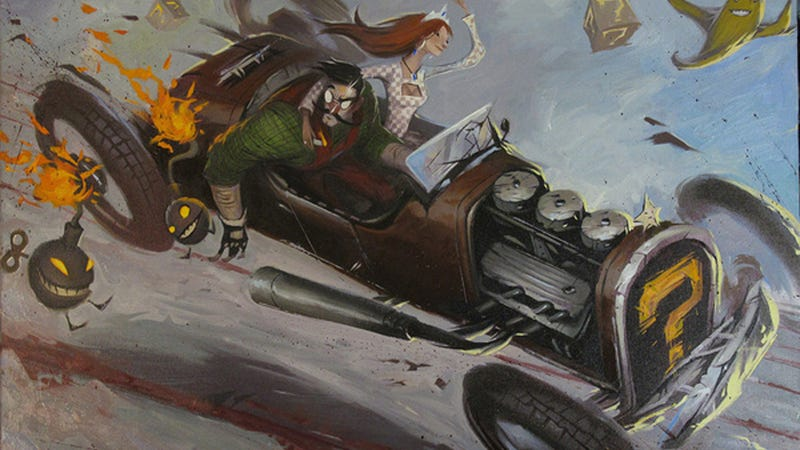 Illustration for article titled Mario Kart Never Looked This Wondrously Fearful And Insane