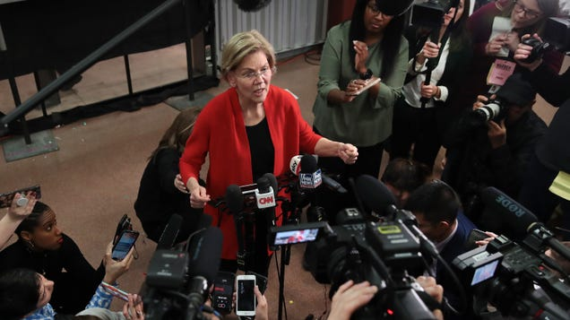 Elizabeth Warren s Plan for Disinformation Pictures Big Tech and Government Sharing the Burden
