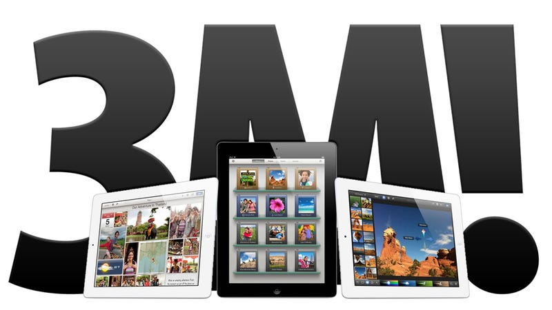 Illustration for article titled Apple's Three Million New iPads Sold Show That the Future Is Here to Stay