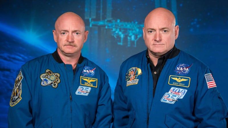 Illustration for article titled Los Kelly ya no son gemelos idénticos: la expresión génica del hermano que pasó un año en el espacio ha cambiado [Actualizada]