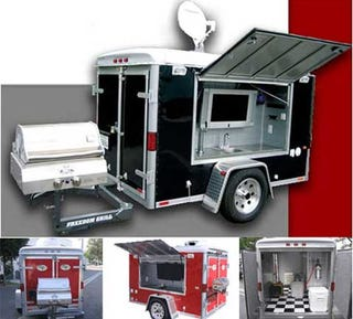 Illustration for article titled Ultimate Tailgating Trailer Lets You Party in a Parking Lot in Style