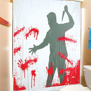 Illustration For Article Titled Bloody Serial Killer Shower Curtain Brings Murderous Fun Into The Bathroom