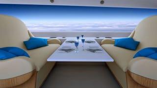 Illustration for article titled El primer jet privado supersónico del mundo no tendrá ventanillas