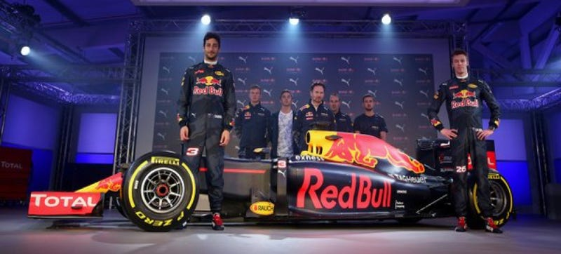 Illustration for article titled Red Bull's Boring New Formula One Look Falls As Flat As Its Finish