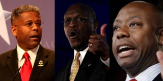 Allen West; Herman Cain; Tim Scott (Getty Images/Creative Commons)