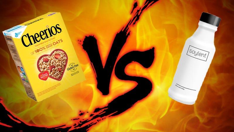 Illustration for article titled Sunday Showdown: Soylent vs. Cheerios