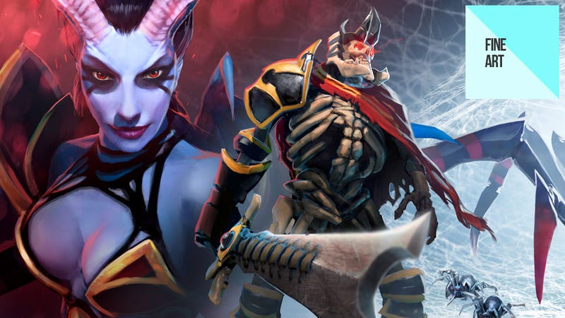 Illustration for article titled Dota 2's Character Art is Like Magic Candy for the Eyes