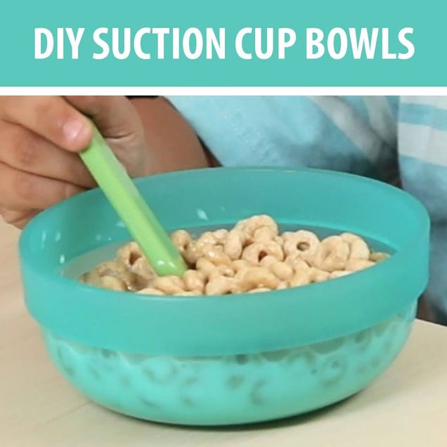 Prevent Mealtime Mess with This DIY Suction Cup Bowl