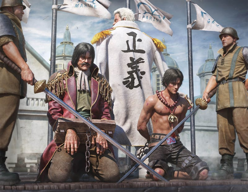 one piece rendered in realistic 3d