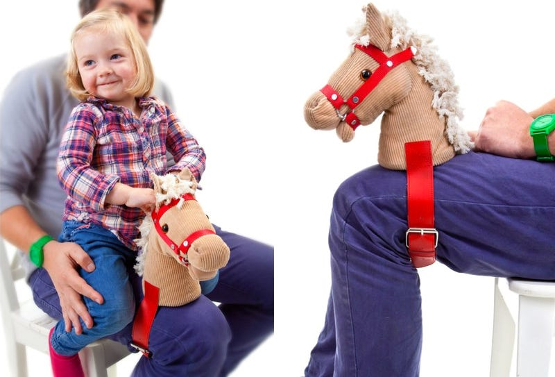 Illustration for article titled Strap This Pony Head To Your Leg For More Authentic Horsey Rides